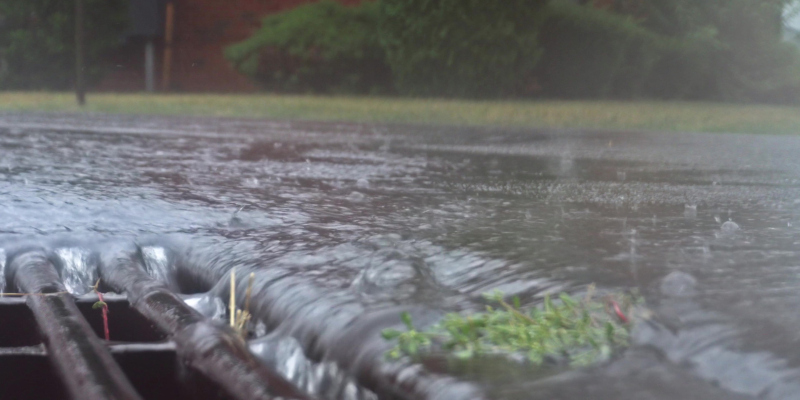 Storm drains are commonly cleaned by using high-pressure water